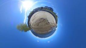 Λίγος μικροσκοπικός πλανήτης απόθεμα βίντεο