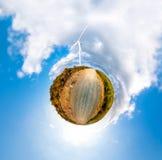Λίγος πλανήτης με τους ανεμοστροβίλους Στοκ Εικόνα