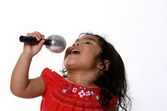 λίγος τραγουδιστής Στοκ φωτογραφίες με δικαίωμα ελεύθερης χρήσης