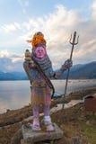 Λίγο άγαλμα shiva - Pokhara, Νεπάλ Στοκ φωτογραφία με δικαίωμα ελεύθερης χρήσης