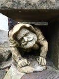 Λίγο άτομο φιαγμένο από πέτρα στο κάστρο Lichtenstein Στοκ Εικόνες