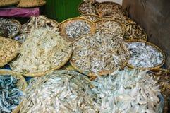 Λίγο αποξηραμένο ψάρι, αγορές Sumatra Στοκ Εικόνες