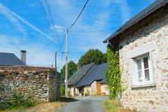 Λίγο γαλλικό χωριουδάκι στοκ φωτογραφία με δικαίωμα ελεύθερης χρήσης