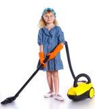 Λίγο καθαρίζοντας κορίτσι Στοκ φωτογραφία με δικαίωμα ελεύθερης χρήσης