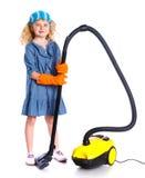Λίγο καθαρίζοντας κορίτσι Στοκ εικόνες με δικαίωμα ελεύθερης χρήσης