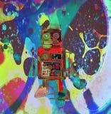 Λίγο κόκκινο ρομπότ σε ένα ταξίδι asid Στοκ Εικόνες