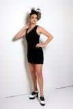 Λίγο μαύρο φόρεμα κοκτέιλ Στοκ Φωτογραφία