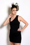 Λίγο μαύρο φόρεμα κοκτέιλ Στοκ εικόνα με δικαίωμα ελεύθερης χρήσης