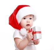 Λίγο μωρό γιορτάζει τα Χριστούγεννα Διακοπές του νέου έτους Στοκ φωτογραφία με δικαίωμα ελεύθερης χρήσης