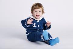 Λίγο μωρό ναυτικών στο άσπρο υπόβαθρο Στοκ φωτογραφία με δικαίωμα ελεύθερης χρήσης