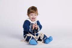 Λίγο μωρό ναυτικών στο άσπρο υπόβαθρο Στοκ Εικόνες