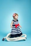 Λίγο μωρό ναυτικών στο μπλε Στοκ εικόνες με δικαίωμα ελεύθερης χρήσης