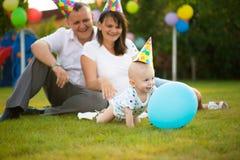 Λίγο μωρό στην ΚΑΠ στα γενέθλιά του Στοκ Φωτογραφίες