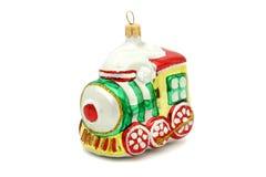 Λίγο παιχνίδι χριστουγεννιάτικων δέντρων τραίνων Στοκ Εικόνα