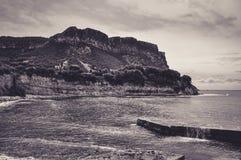 Λίγο παραλία κάτω από de Cliffs Cassis στοκ φωτογραφία