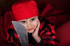 Λίγο πορτρέτο κοριτσιών πειρατών Στοκ Φωτογραφίες