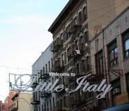 Λίγο σημάδι NYC της Ιταλίας Στοκ φωτογραφία με δικαίωμα ελεύθερης χρήσης