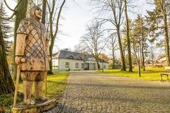 Λίγο σπίτι φέουδων στο Boleslaw Πολωνία Στοκ Εικόνες