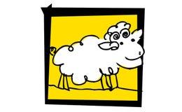 λίγο συμπαθητικό πρόβατο στοκ εικόνες