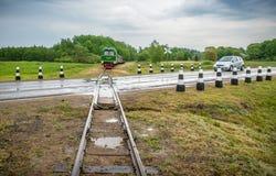 Λίγο τραίνο σε Anyksciai Στοκ Εικόνες