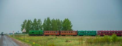 Λίγο τραίνο στη Λιθουανία Στοκ φωτογραφία με δικαίωμα ελεύθερης χρήσης