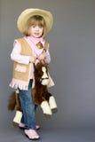 Λίγο cowgirl Στοκ εικόνες με δικαίωμα ελεύθερης χρήσης