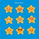 Λίγο emoji αστεριών, εικονίδια χαμόγελου αστεριών καθορισμένα Στοκ φωτογραφία με δικαίωμα ελεύθερης χρήσης