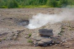 Λίγο geyser Ισλανδία geysir στοκ εικόνες