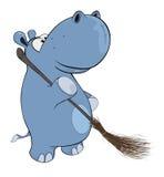 Λίγο hippopotamus cartoon Στοκ φωτογραφίες με δικαίωμα ελεύθερης χρήσης