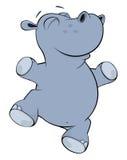 Λίγο hippopotamus cartoon Στοκ Εικόνες