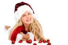 λίγο santa δεσποινίδας Στοκ εικόνα με δικαίωμα ελεύθερης χρήσης