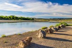 Λίθοι κατά μήκος της ακτής Yampa του ποταμού Στοκ Εικόνα