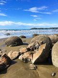 Λίθοι Moeraki στη Νέα Ζηλανδία στοκ φωτογραφία με δικαίωμα ελεύθερης χρήσης