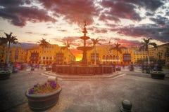 Λίμα η πρωτεύουσα της Δημοκρατίας του Περού Στοκ εικόνες με δικαίωμα ελεύθερης χρήσης
