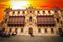 Λίμα Περού Άποψη της εκκλησίας καθεδρικών ναών στοκ φωτογραφία με δικαίωμα ελεύθερης χρήσης
