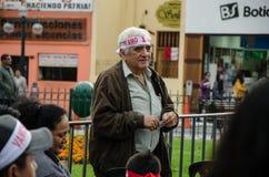 Λίμα, Περού - 10 Οκτωβρίου 2017: Φανατισμός στο Περού Περού εναντίον της Κολομβίας Ρωσία 2018 Στοκ εικόνες με δικαίωμα ελεύθερης χρήσης