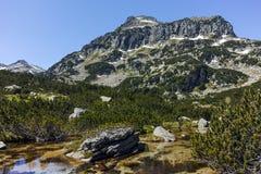 Λίμνες αιχμών και Banski Dzhangal, βουνό Pirin Στοκ Εικόνες