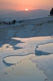 λίμνες ασβεστόλιθων pamukkale στοκ εικόνες