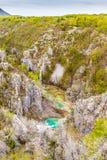 Λίμνες και καταρράκτες στο εθνικό πάρκο Plitvice Στοκ Φωτογραφία