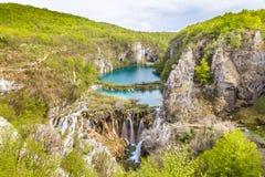 Λίμνες και καταρράκτες στο εθνικό πάρκο Plitvice Στοκ φωτογραφία με δικαίωμα ελεύθερης χρήσης