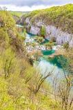 Λίμνες και καταρράκτες στο εθνικό πάρκο Plitvice Στοκ Εικόνες