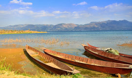 Λίμνες και σκάφος Στοκ Εικόνα