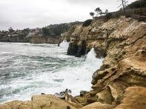Λίμνες παλίρροιας Καλιφόρνιας Λα Χόγια στοκ φωτογραφία με δικαίωμα ελεύθερης χρήσης