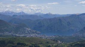 Λίμνες του Λουγκάνο στην Ελβετία Στοκ εικόνα με δικαίωμα ελεύθερης χρήσης