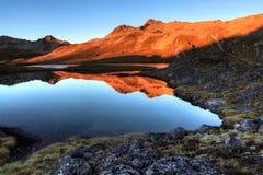 Λίμνες του Nelson, Νέα Ζηλανδία Στοκ Εικόνες