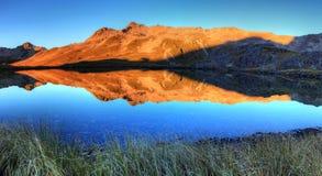 Λίμνες του Nelson, Νέα Ζηλανδία Στοκ Φωτογραφία