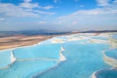 Λίμνες τραβερτινών Pamukkale Στοκ εικόνα με δικαίωμα ελεύθερης χρήσης