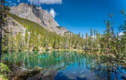 Λίμνες Grassi, Canmore, Αλμπέρτα στοκ εικόνα