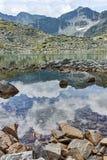 Λίμνες Musalenski και αιχμή Musala, βουνό Rila Στοκ φωτογραφία με δικαίωμα ελεύθερης χρήσης