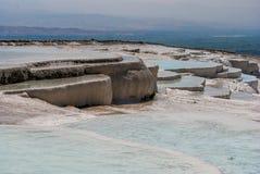 Λίμνες Pamukkale, Τουρκία Στοκ εικόνες με δικαίωμα ελεύθερης χρήσης